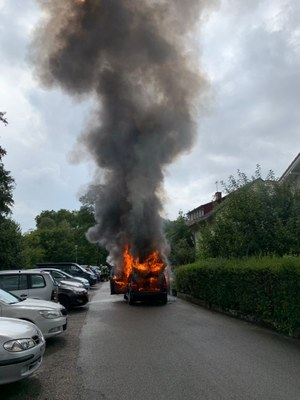 01.09.2020 Fahrzeugbrand Am Kastelberg