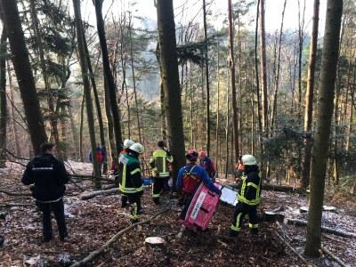 04.01.2019 Waldarbeiterunglück Kohlenbach 3