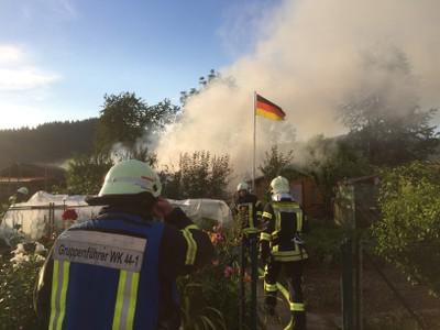 07.07.2016 Brand Schrebergarten Bleichacker