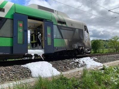13.05.2021 Brennender Triebwagen Buchholz 3