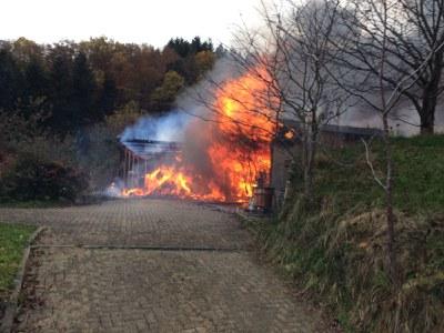 17.11.2016 Brand einer Werkstatt im Kohlenbach