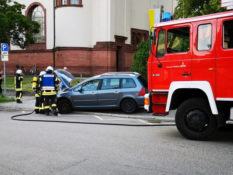 19.06.2019 Fahrzeugbrand Kollnau