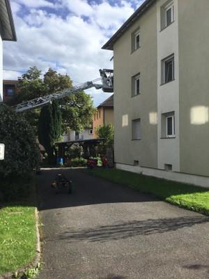 26.04.2018 Unterstützung Rettungsdienst, Geranienstraße