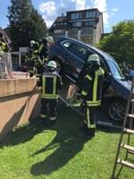 Absicherung nach Verkehrsunfall, Schlettstadtallee