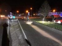 Ausgelaufene Betriebsstoffe Freiburger Straße und L186