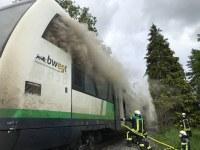 Brand an einem S-Bahn-Triebwagen