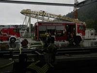 Brand bei der Firma Mack