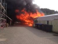 Brand bei der Lebensgemeinschaft am Bruckwald