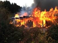 Brand einer Werkstatt im Kohlenbach