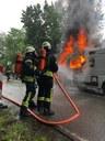 Brand eines Wohnmobils, B294