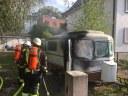 Brand eines Wohnwagens, Schillerstraße