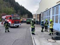 Brand in einer Werkstatt, Bergstraße