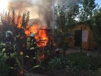 Brand in Schrebergärten