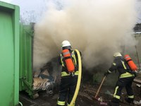 Containerbrand, Rudolf-Blessing-Straße