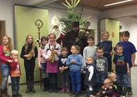 Der Nikolaus zu Besuch bei der Abteilung Waldkirch