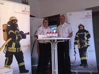 Die Feuerwehr beim Neubürgerempfang