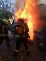 Fahrzeugbrand, am Schänzle