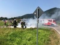 Fahrzeugbrand, B294, Höhe Stollen Bleibach