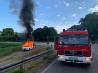 Heimrauchmelder und Fahrzeugbrand