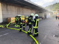 Herbstübung aller Abteilungen - Brand bei der Kautex Textron GmbH & Co. KG