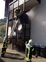 Kleinbrand: Feuer auf Balkon