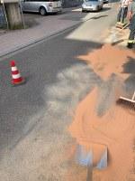 Mögliche Gewässerverunreinigung und ausgelaufene Betriebsstoffe