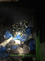 Müllcontainerbrand in der Rudolf-Blessing-Straße