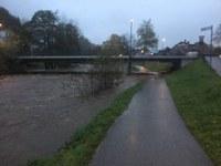 Steigende Pegelstände, Hochwasser und Unwetterschäden