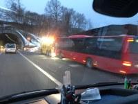 Rauchentwicklung an defektem Linienbus