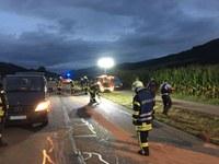 Unterstützung Polizei nach schwerem Verkehrsunfall