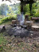 Unbeaufsichtigtes Feuer an der Ruine Schwarzenburg