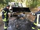 Unbeaufsichtigtes Reisigfeuer im Kandelwald