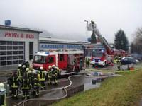 Unterstützung mit Wärmebildkamera bei Brand in Winden