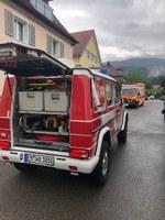 Unterstützung Rettungsdienst, Scheffel- und Gartenstraße