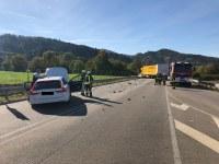 Verkehrsunfall B294, Höhe Waldkirch Ost