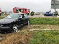 Verkehrsunfall mit eingeklemmter Person, L186