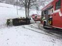 Verkehrsunfall mit eingeklemmter Person, Siegelau
