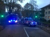 Verkehrsunfall mit Personenrettung, Freie Straße