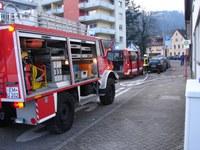 Wasserrohrbruch in  der Adenauerstrasse